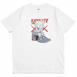 2019 KAWS x Jordan 4 Tee White