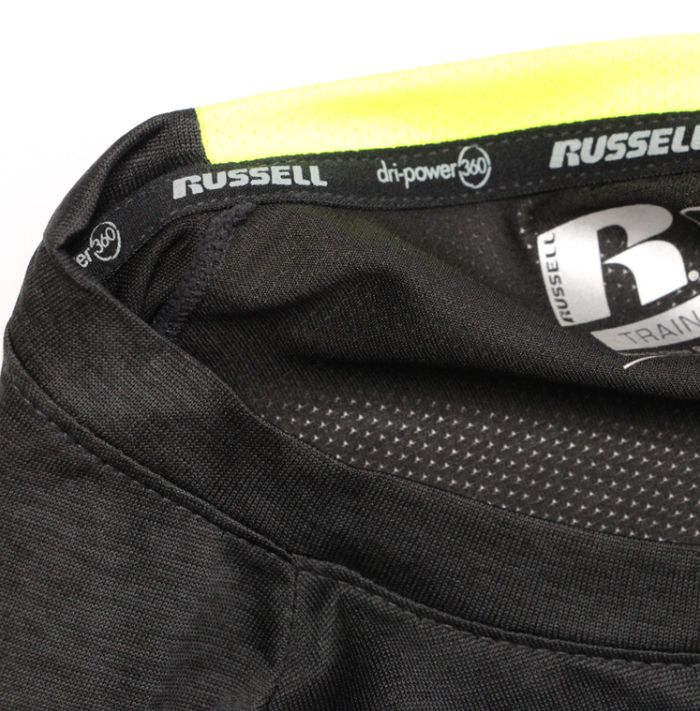 Big & Tall Russell Dry Power Tee Black-2