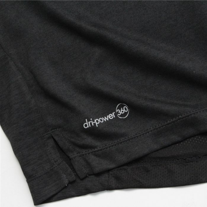 Big & Tall Russell Dry Power Tee Black-7