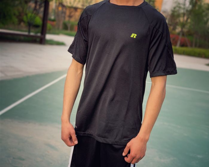 Big & Tall Russell Dry Power Tee Black-9