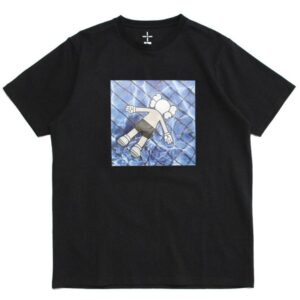 KAWS in da basin Tee Black