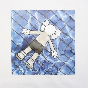 KAWS in da basin Tee White