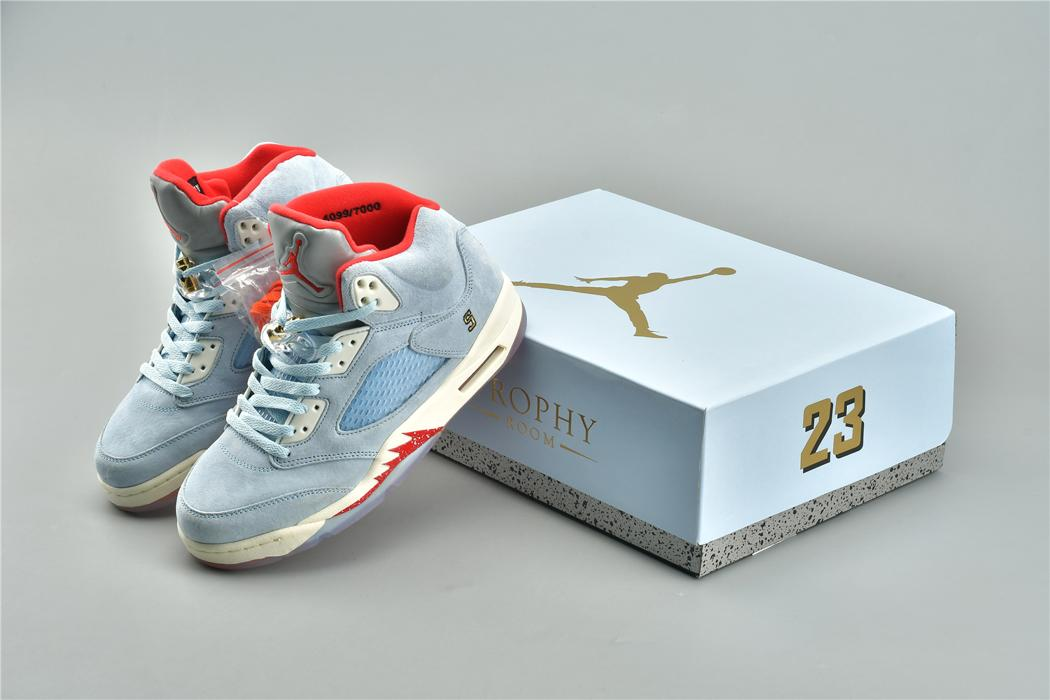 Trophy Room x Air Jordan 5 Retro Ice Blue 22