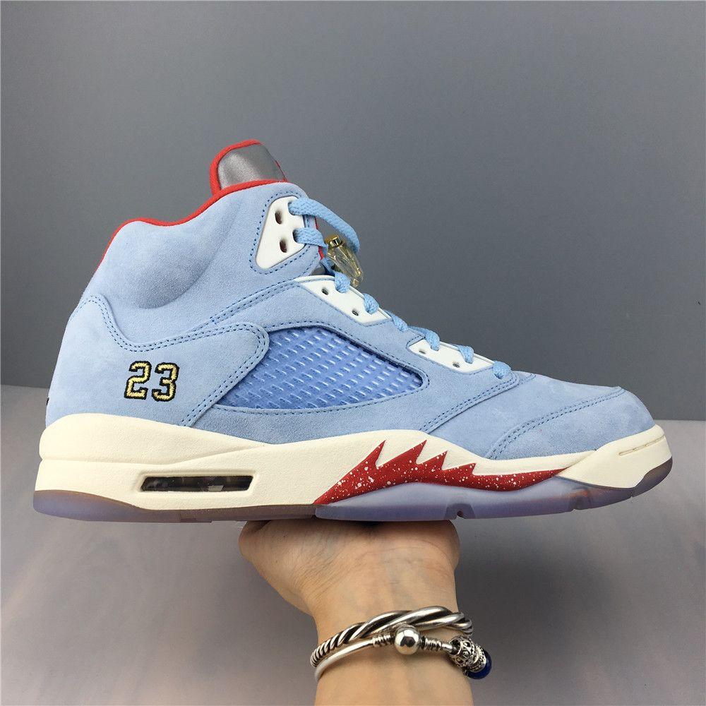 Trophy Room x Air Jordan 5 Retro Ice Blue-6