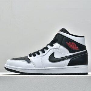 Wmns Air Jordan 1 Mid White Black 1