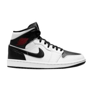 Wmns Air Jordan 1 Mid White Black