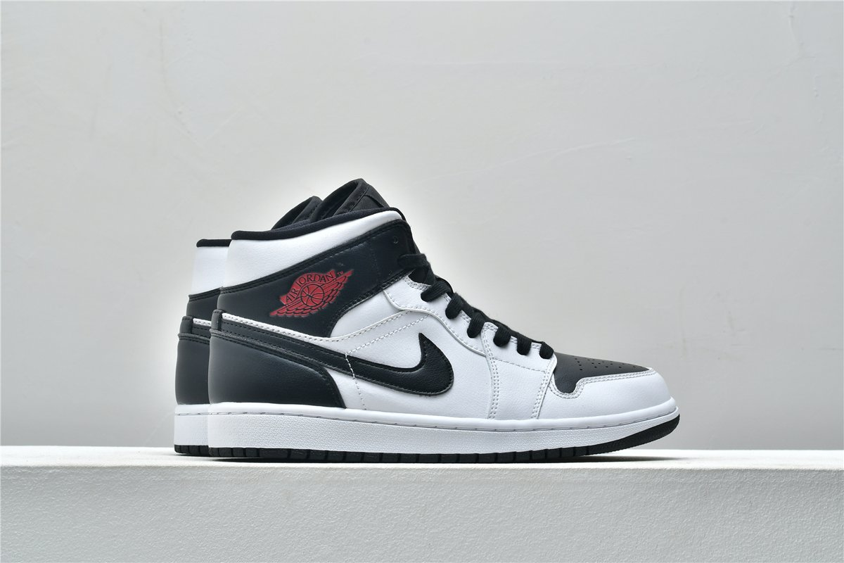 Wmns Air Jordan 1 Mid White Black 6