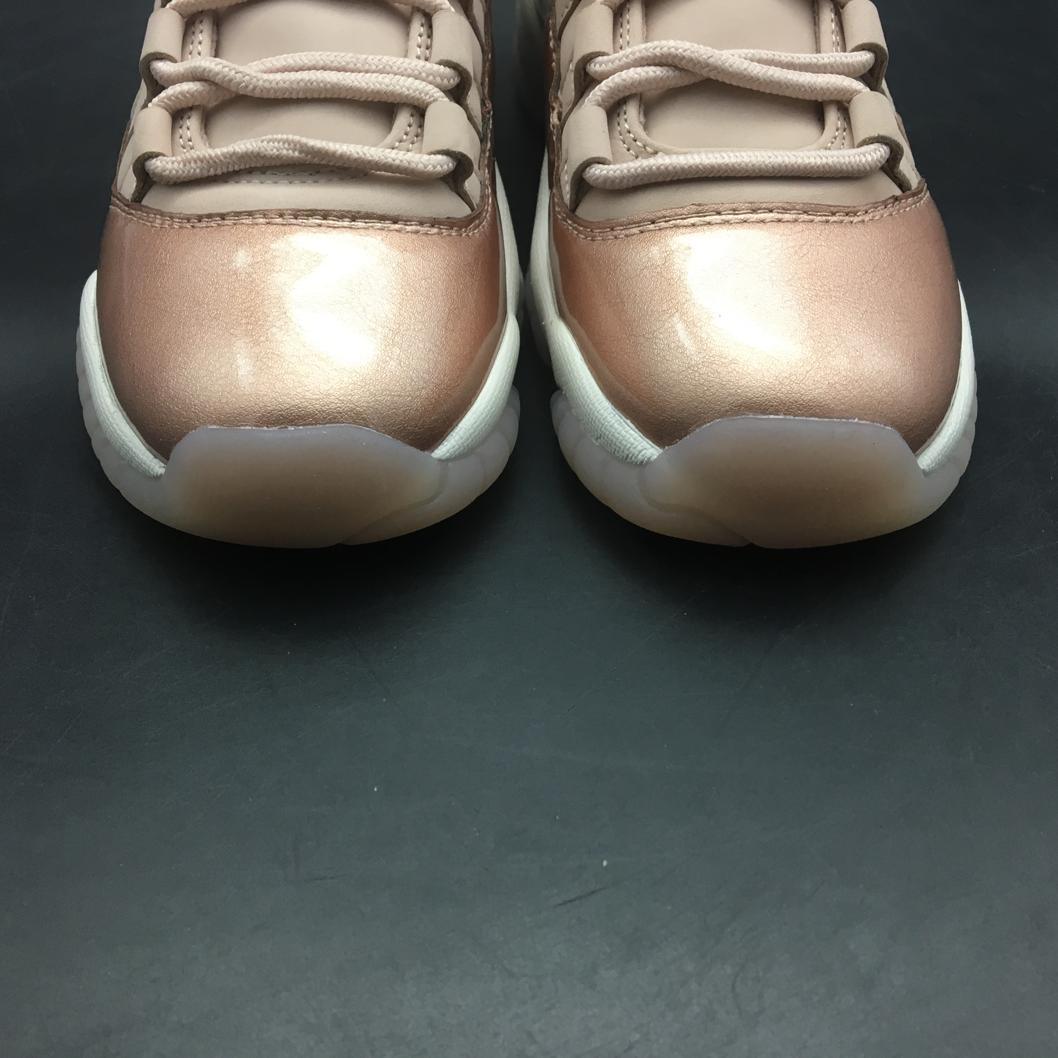Wmns Jordan 11 Retro Low Rose Gold-10