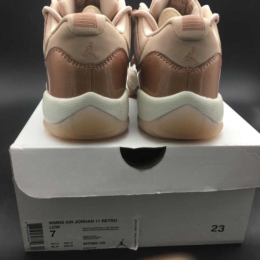 Wmns Jordan 11 Retro Low Rose Gold-14