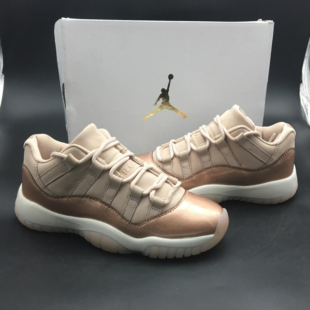 Wmns Jordan 11 Retro Low Rose Gold-17