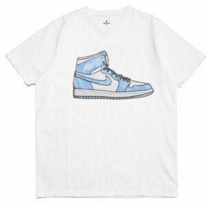 2019 Air Jordan 1 Tee White Blue