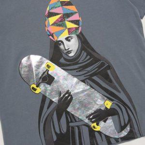2019 Saint Skateboard Grey Tee