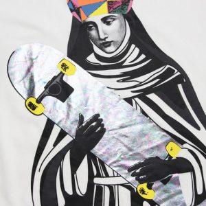 2019 Saint Skateboard White Tee
