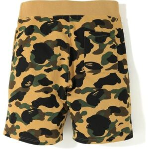 BAPE 1st Camo Shark Sweat Shorts Yellow