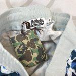 BAPE ABC Camo WGM Print Shark Sweatshorts Light Blue-7