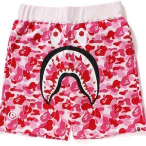 Заказать поиск шорт BAPE ABC Shark Sweat Shorts Pink