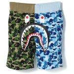 BAPE ABC Split Shark Shorts Green Blue