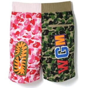 BAPE ABC Split Shark Shorts Green Pink