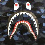 BAPE Color Camo Side Shark Tee Navy-3