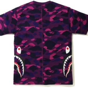 Заказать поиск футболки BAPE Color Camo Side Shark Tee Purple