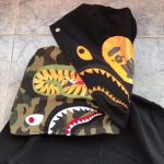 BAPE x Undefeated Double Shark Full Zip Hoodie Black-7