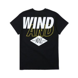 MADNESS x Wind and Sea Print Tee Black