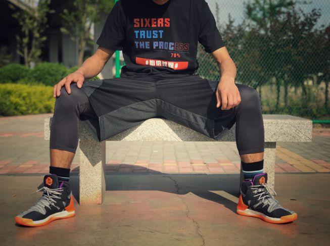 Phila Sixers Trust The Process Black Tee-3
