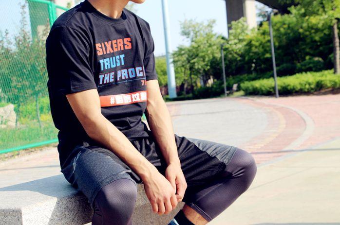 Phila Sixers Trust The Process Black Tee