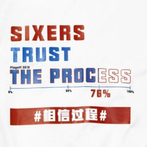 Phila Sixers Trust The Process White Tee