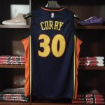 2009-10 Stephen Curry Warriors #30 Navy-1