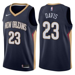 2017-18 Anthony Davis Pelicans #23 Icon Navy