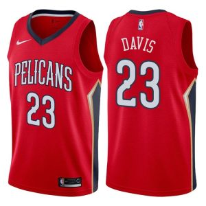 2017-18 Anthony Davis Pelicans #23 Statement Red