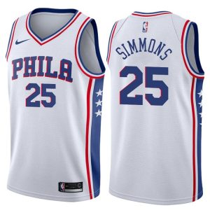 2017-18 Ben Simmons Philadelphia 76ers #25 Association White