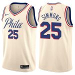 2017-18 Ben Simmons Philadelphia 76ers #25 City Cream