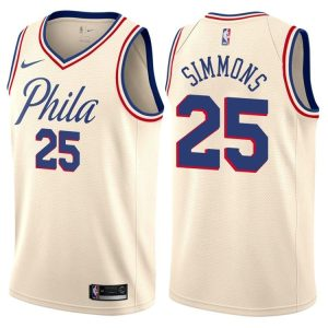 2017-18 Ben Simmons Philadelphia 76ers #25 City Cream