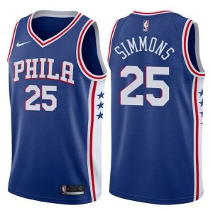 2017-18 Ben Simmons Philadelphia 76ers #25 Icon Blue
