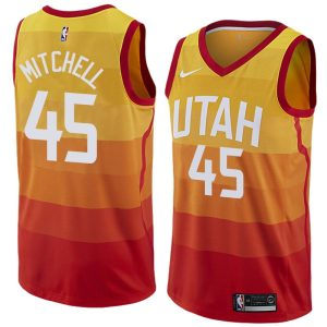 2017-18 Donovan Mitchell Utah Jazz #45 City Edition Red