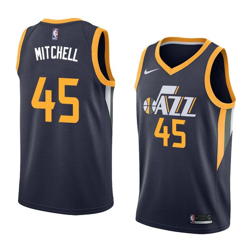 2017-18 Donovan Mitchell Utah Jazz #45 Icon Navy