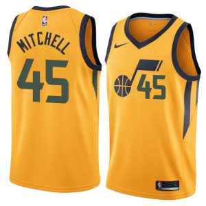 2017-18 Donovan Mitchell Utah Jazz #45 Statement Gold