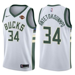 2017-18 Giannis Antetokounmpo Bucks #34 Association White
