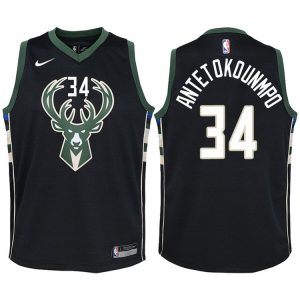 2017-18 Giannis Antetokounmpo Bucks #34 Statement Black
