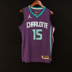 2017-18 Kemba Walker Hornets #15 Statement Purple
