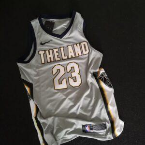 2017-18 LeBron James Cleveland Cavaliers #23 City Gray