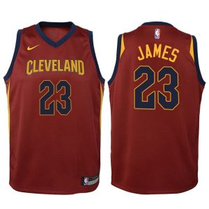 2017-18 LeBron James Cleveland Cavaliers #23 Icon Maroon