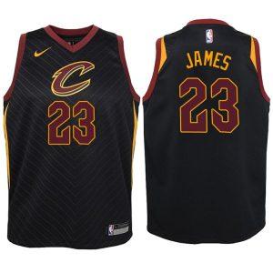 2017-18 LeBron James Cleveland Cavaliers #23 Statement Black