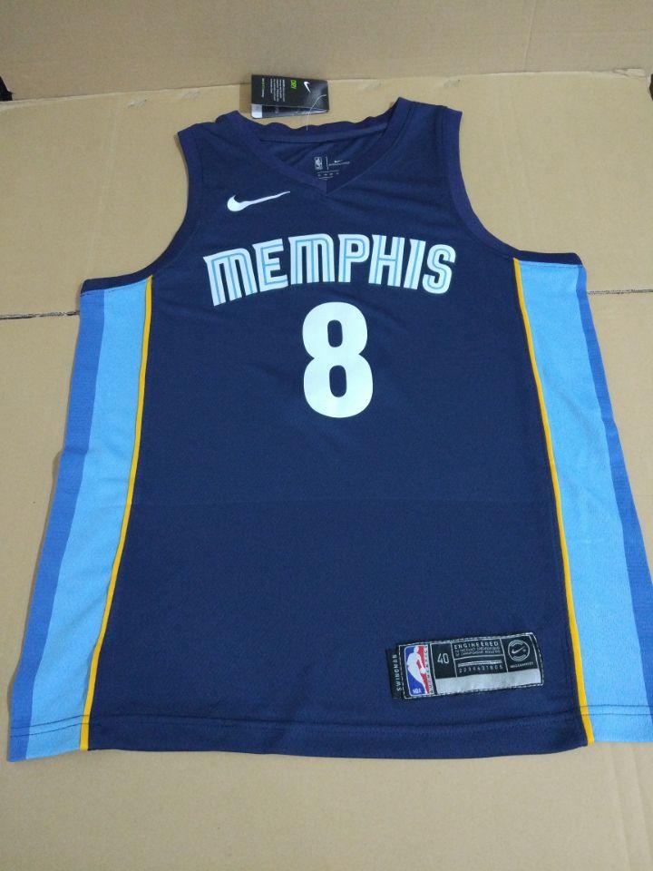 2017-18 MarShon Brooks Memphis Grizzlies #8 Icon Navy