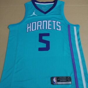 2017-18 Nicolas Batum Hornets #5 Icon Teal