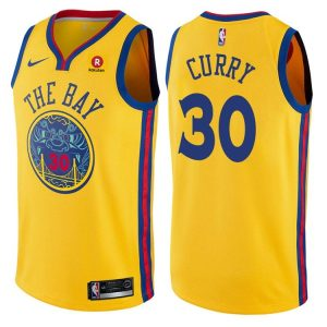 2017-18 Stephen Curry Warriors #30 City Gold
