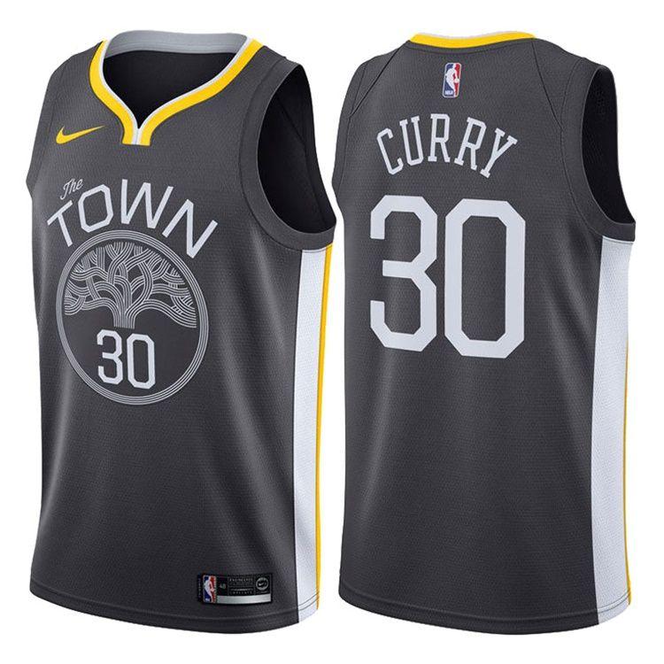 2017-18 Stephen Curry Warriors #30 Statement Gray