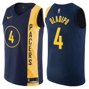 2017-18 Victor Oladipo Indiana Pacers #4 City Navy